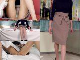 【完着フェチ57:動画】Tae(10)26歳・女子アナ的ハイウェストのスカートを捲ってセンターシームをひたすらナデナデ【ナチュス