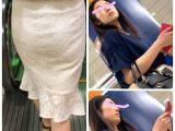 【淫乱白スカートシリーズ③】スレンダーエロ顔美人OLのエロいお尻と腰つき。クビレで精子ぶっかけ!【348】