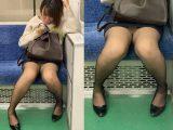 黒ストッキングがエロい!短すぎるスカートを穿いて無防備に座るエロいお姉さん(其の四)