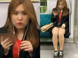 短すぎるスカートと美脚がそそるギャルお姉さん(其の二)