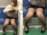 黒ストッキングがエロい!短すぎるスカートを穿いて無防備に座るエロいお姉さん(其の六)