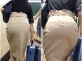 《Suitcaseを持った着衣尻が堪らない!》 No.795【4連発!!!この美尻美女さんはそんなに肉棒が欲しいのか?】