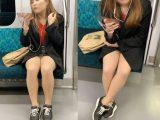 短すぎるスカートと美脚がそそるギャルお姉さん(其の五)