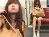 何度も脚を組み替えてスカートの中を見せてくれるモデル風美女(其の一)