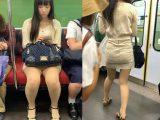 タイトすぎてスカートからパンツがうっすら透けている黒髪美女(其の四)