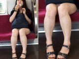 白くて綺麗な美脚に付いた傷が逆にそそる正統派美女(中編)
