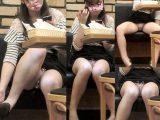 フードコートで無防備開脚モロパンチラする可愛い女の子の赤裸々ぱんちら~FHD動画