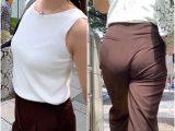 《ドーンと巨乳!》 No.1025【稲村亜○系のグラマー体型のお姉さんの真夏の出勤着】
