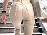 【惜しいお尻】高身長スレンダーモデルの!ドエロいスキニーパンツがまぶしい!デカ尻エロパンティーライン!【456】