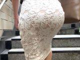 【美人美尻OL②】スレンダーエロ尻美女の白レースタイトスカート美尻に寝バックで肉棒を奥までぶち込む!【477】