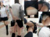 【鬼畜スカートめくりNo,49】めくられ白Pまる出し!透けブラしてるロリ顔制服娘9連続めくり