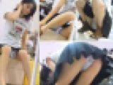 靴屋にて試着中の美少女の無防備パンチラ盗撮動画