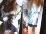 J〇見学クラブでいやらしく下着を見せる美少女Kを盗撮