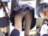 バレてしまった大失態!階段で制服美少女の追い撮りパンチラ盗撮動画19