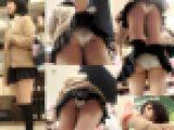 【鬼畜スカートめくりVol35】~プリプリ美尻に食い込む白パンツ,太ももが激エロな美少女5連続めくり~
