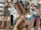清楚系美少女の食い込みパンツに出来る隙間がヤバイ盗撮パンチラ動画