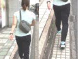 パンティーライン透け黒ムチピタ姉さん尻×4