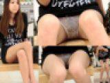 【高画質顔有り】●毛透け透け白Pギャル美少女の破廉恥ぱんちら盗撮