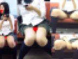 【電車対面パンチラ盗撮】制服娘のゆるんだお股からモロ見えPチラ盗撮【FHD動画】