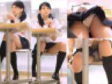 無防備開脚でP丸見えの制服美少女パンチラ盗撮動画