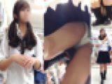 しきりに食込みパンツを直す様子が卑猥な制服女子のパンチラ盗撮動画