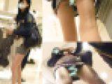 ミニ過ぎるスカート丈で生脚露出のモデル系美女のP丸見え粘着盗撮動画〜2