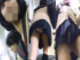 電車内で可愛い制服女子に密着パンチラ盗撮動画(FHD)
