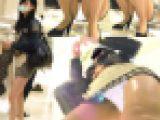 ミニスカ美女のお尻に食い込みPが丸見え盗撮動画