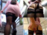 【電車対面パンチラ63☆続編】☆歩行観察記録/むっちりお尻のお姉さん!