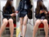 【電車対面パンチラ65】☆三角ゾーン観察記録/艶美お姉さん!