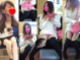 《電車盗撮2本セット》美少女達の丸見えパンチラ盗撮動画2セット