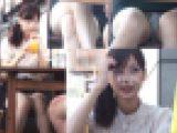 【高画質】会話に夢中でお股ガラ空きP丸見え清楚可愛い女子の極上対面ぱんちら~FHD動画~