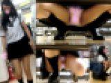 制服ギャル娘が無防備開脚でムレた股間Pモロ晒し極上対面ぱんちら~FHD動画~