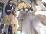 (新・高画質顔出し)アイドル風超カワお姉さん×白バックレース縁取り薄生地P×黄色ミニスカート