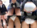 【鬼畜スカートめくりSP28無修正】~めくって食い込みPモロ出し制服女子盗撮動画~