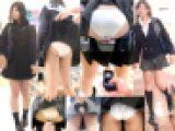 【2人分SET】2アングルでめくり中にP撮り+突き出しぷり尻白Pモロ出し女子 =鬼畜スカートめくり20連発SET